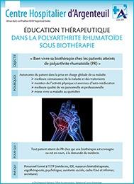 Fiche d'éducation thérapeutique dans la polyarthrite rhumatoïde sous biothérapie