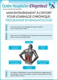 Fiche mini-entraînement à l'effort pour lombalgie chronique