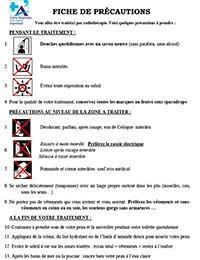 Information pendant le traitement