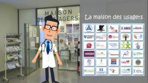 vignette de la video de présentation de la maison des usagers de l'hôpital d'Argenteuil
