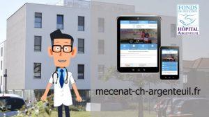 vignette de la video de présentation du fonds de dotation de l'hôpital d'Argenteuil