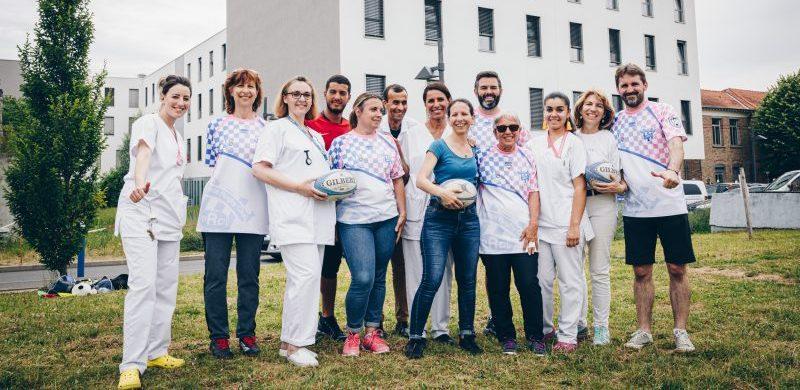 Rugby féminin avec le centre de cancérologie