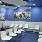 salle d'attente de radiothérapie