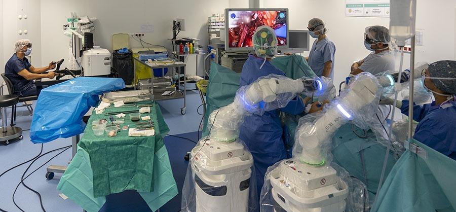 Chirurgie robot assistée au CH d'Argenteuil